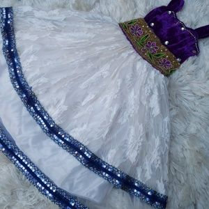 Authentic DETAILED Shimmery Beaded Costume Gown